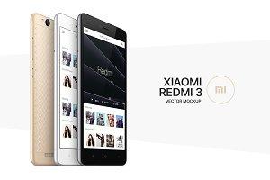 Xiaomi Redmi 3 Vector MockUp (PSD)
