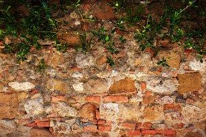 Ancient, retro stone wall.