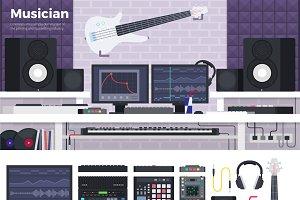 Musician workspace