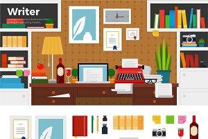 Writer cabinet interior