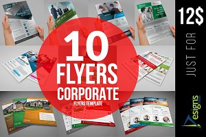 10 Corporate Flyers Bundle