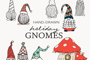 Gnomes Holiday Clip Art