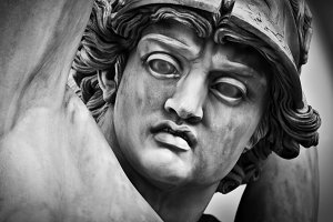 Ancient sculpture close up. Florence