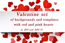 Valentine set of templates