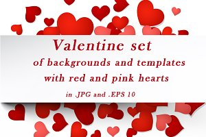 Valentine set of templates