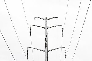 Symmetrical Powerlines & Tower
