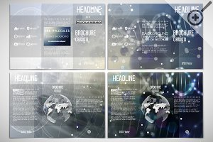 Set of science trifold templates