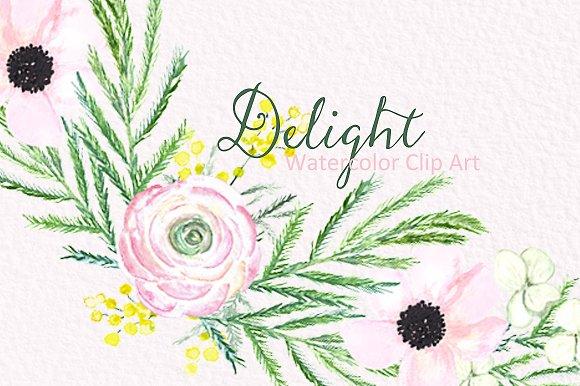 Spring flowers Delight. Clipart - Illustrations