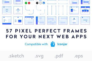 User Flow Frames - UX Kit Sketch