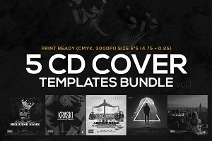 5 CD Cover Templates Bundle vol.1