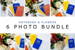 Colorful Notebooks & Flowers Bundle