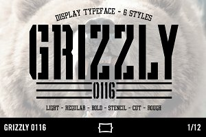 Grizzly 0116 Display Typeface