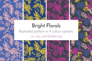 Bright Florals Repeating Pattern