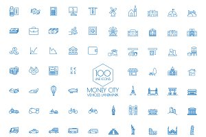 100 icons  Business Travel landmark