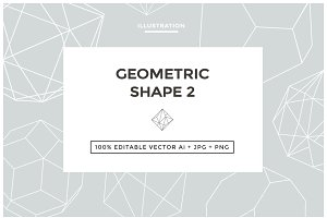 Geometric Shape Illustrations Set #2