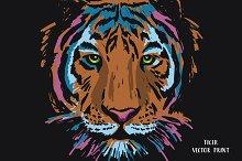 Tiger vector print