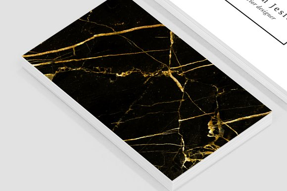 Black gold marble business card business card templates black gold marble business card business card templates creative market reheart Image collections