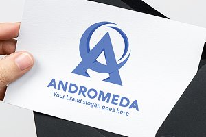 Andromeda Space Letter A Logo