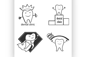 Dental symbol collection.