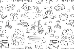 Doodle pattern toys