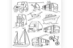 doodle vector transport