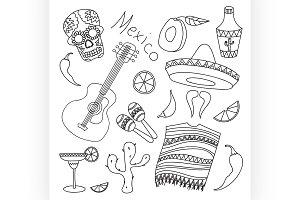 Doodle vektor mexico