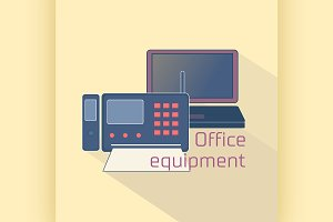 Office equipment logo