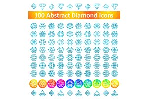 100 Diamond Icons