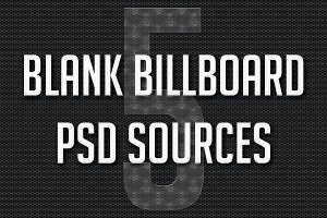 5 Blank Billboard PSD Sources
