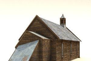 Low Poly Wild West Church