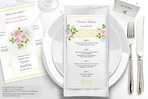 """""""Garden Rose"""" Wedding Set (extended)"""
