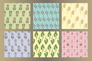 24 Herbal Seamless Patterns
