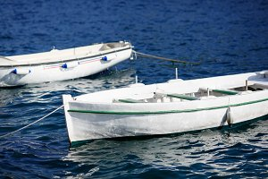 Small wooden boats