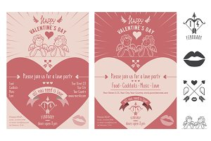 Valentine's Day invitation card