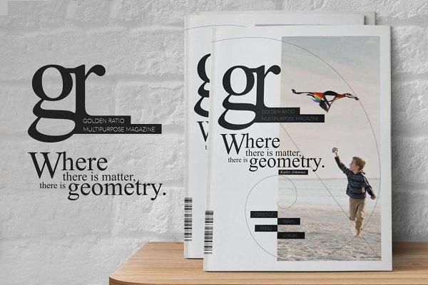 Golden Ratio Magazine Template
