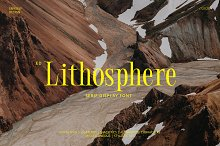 ED Lithosphere by  in Fonts