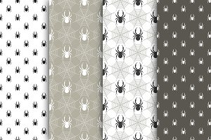 Seamless vector patterns with spider