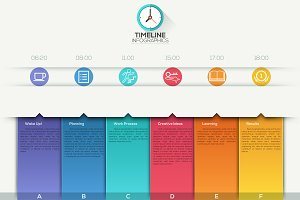 Modern Infographic Paper Timeline