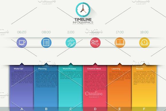 Modern Infographic Paper Timeline