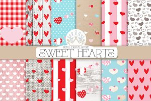 VALENTINE SWEET HEARTS digital paper