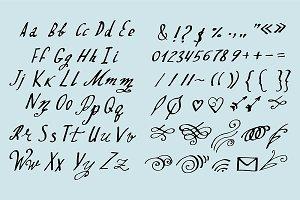 №72 Vector font