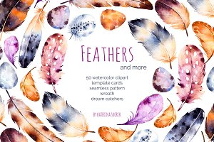 Feathers and dream catchers