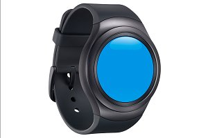 Samsung Gear S2 Black Mockup 2