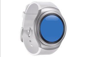Samsung Gear S2 White Mockup 1