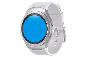 Samsung Gear S2 White Mockup 2