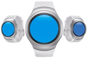 Samsung Gear S2 White Mockup Pack