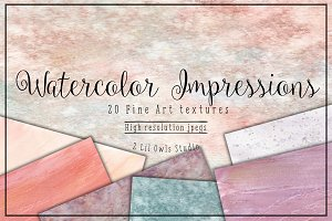 Watercolor Impressions Fine Art Text
