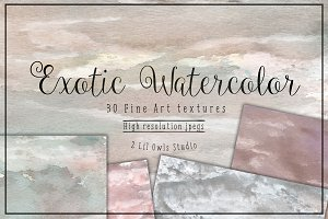 Exotic Watercolor Textures