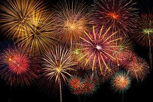 Fantastic fireworks on the sky