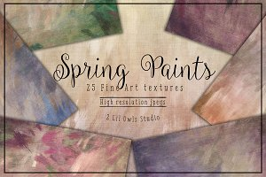 Spring Paints Fine Art Textures